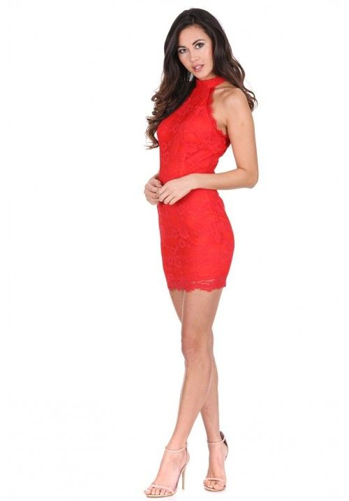 Red Halter Mini Dress