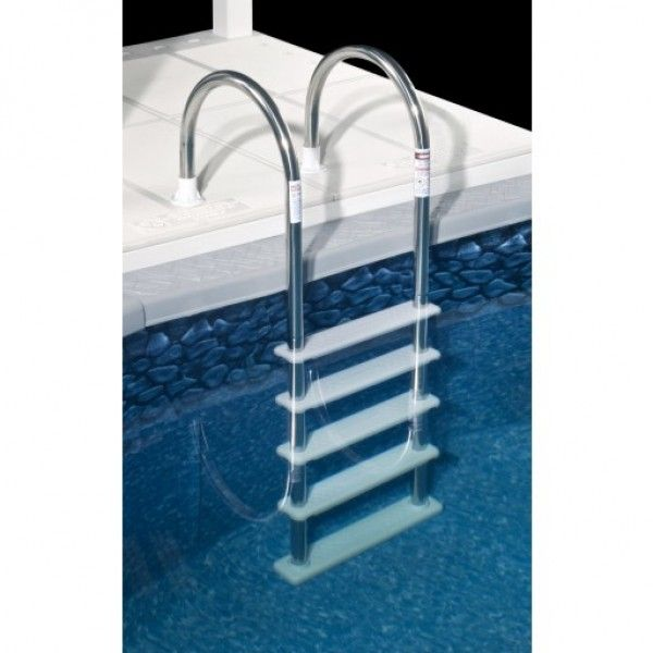 standard stainless steel silver in pool ladder for above ground pools