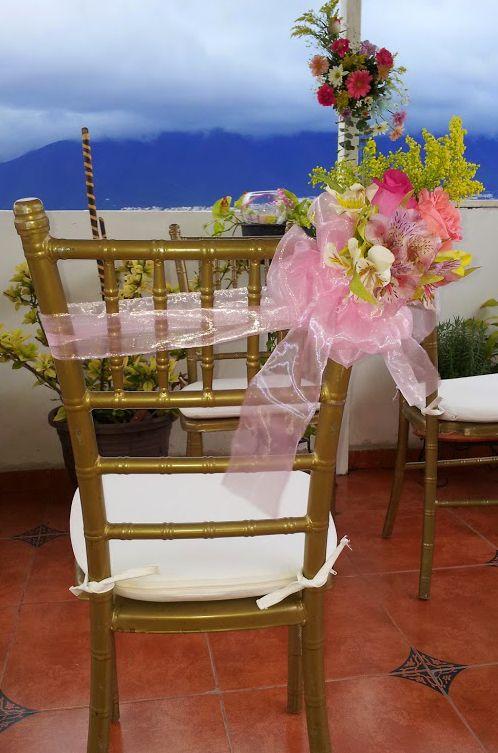 Buket para silla de fiesta