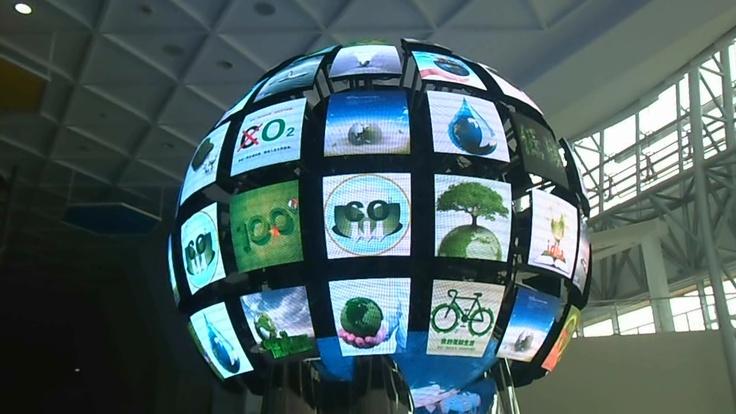 모듈이 독립적으로 움직이는 Dynamic Type의 LED Ball.
