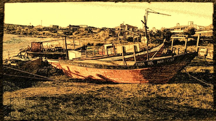 Título: Tiempo de pescadores - Arte Digital - San Luis, Argentina - Autora: Alejandra Etcheverry