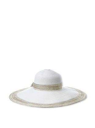 64% OFF Giovannio Women's Metallic Trim Sunhat, White/Khaki