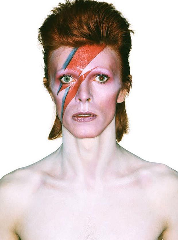 David Bowie: the lightening bolt makeup for the Aladdin Sane album cover has become iconic