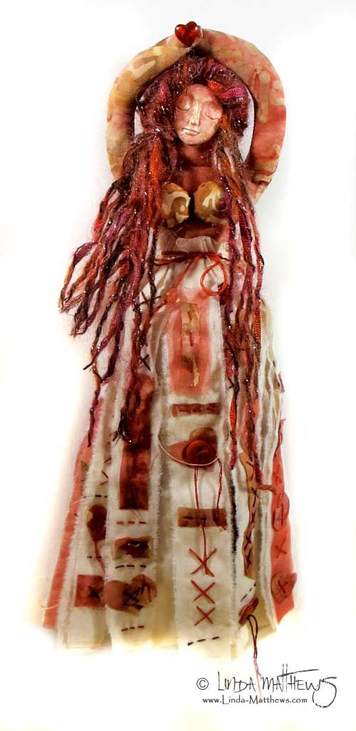 Spirit Art Doll - my favorite part is the DRESS!  love the stitching!  :)