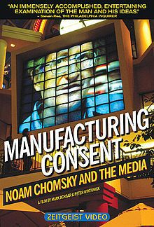 Manufacturing Consent. The film presents and illustrates Chomsky's and Herman's thesis that corporate media, as profit-driven institutions, tend to serve and further the agendas of the interests of dominant, elite groups in the society.