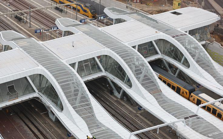 Arnhem Central Station is a minimal train hub in The Netherlands designed by UNStudio.