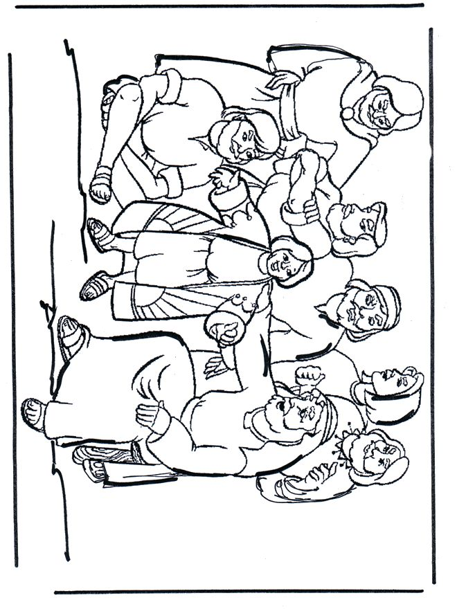 Joseph and his brothers bible pinterest coloring for Joseph in jail coloring page