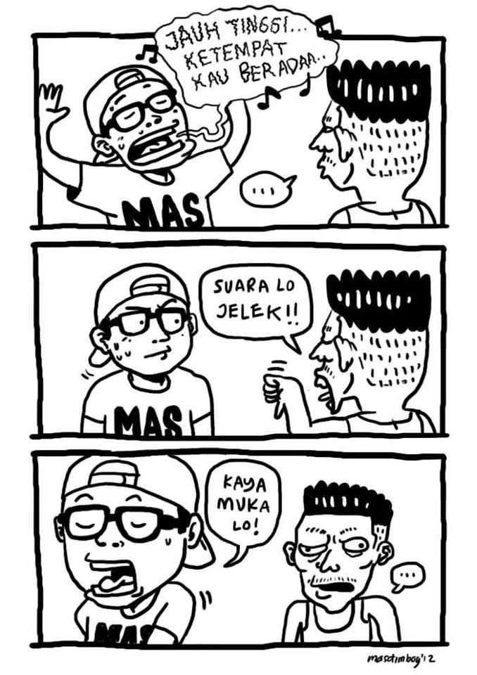 example of two people conversation comic by masdimboy, this inspired me to develop my comic project