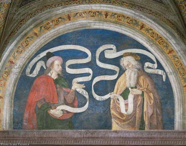 Pier Matteo d'Amelia (c. 1450-1503\8) - Matthew and Obadiah - affresco - 1492-1494 - Sala del Credo - Appartamento Borgia - Palazzo Apostolico della Città del Vaticano - Musei Vaticani