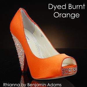 Burnt Orange Wedding Heels | BURNT ORANGE-266 Wedding Shoes and BURNT ORANGE-266 Dyeable Bridal ...