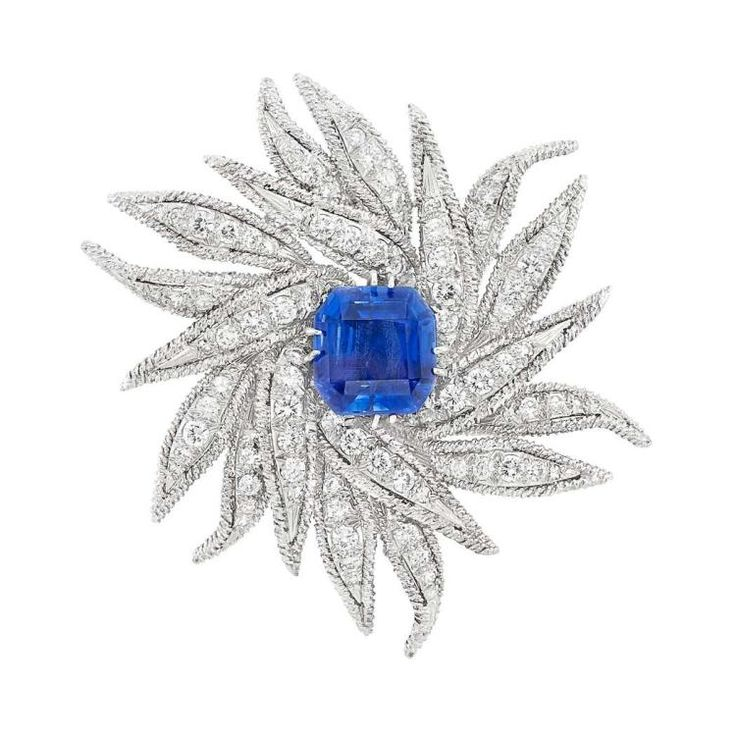 Buy online, view images and see past prices for Platinum, White Gold, Sapphire and Diamond ''Starburst'' Brooch, David Webb. Invaluable is the world's largest marketplace for art, antiques, and collectibles.