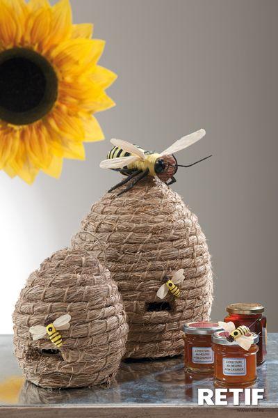 Decoración con abejas y girasol | Artesanías de abejas