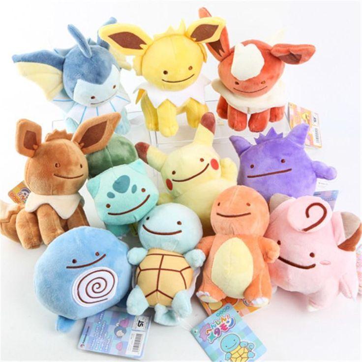 Pokemon Center Pikachu Plush Vaporeon Doll Transform Ditto Metamon Spuirtle Toy #Unbranded