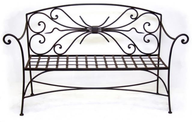 Artes Imports WTC 6-124-WH: Ventian Iron Bench #dallasmarket #tempshow #home #furniture