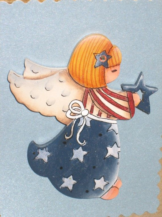 Americana Angel Pin by conzstuff on Etsy, $8.50