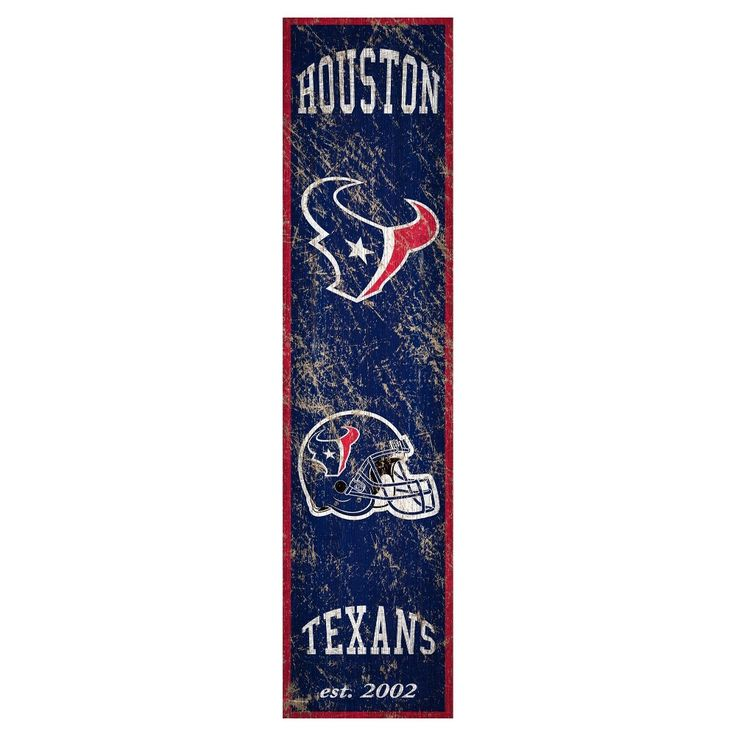 "NFL Houston Texans Heritage Banner Vertical 6"" x 24"" Sign"