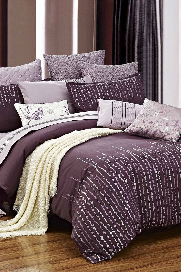 Purple bed sheets bedding purple bedding bed linens and comforters from pierre cardin adding Royal purple master bedroom