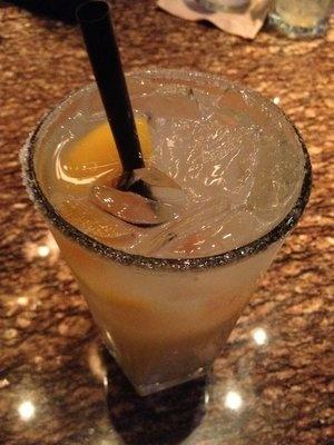 White Peach Margarita from BJs - 1800 Silver Tequila, Cointreau Orange Liqueur, Monin White Peach and BJ's Freshly Prepared Sweet & Sour.