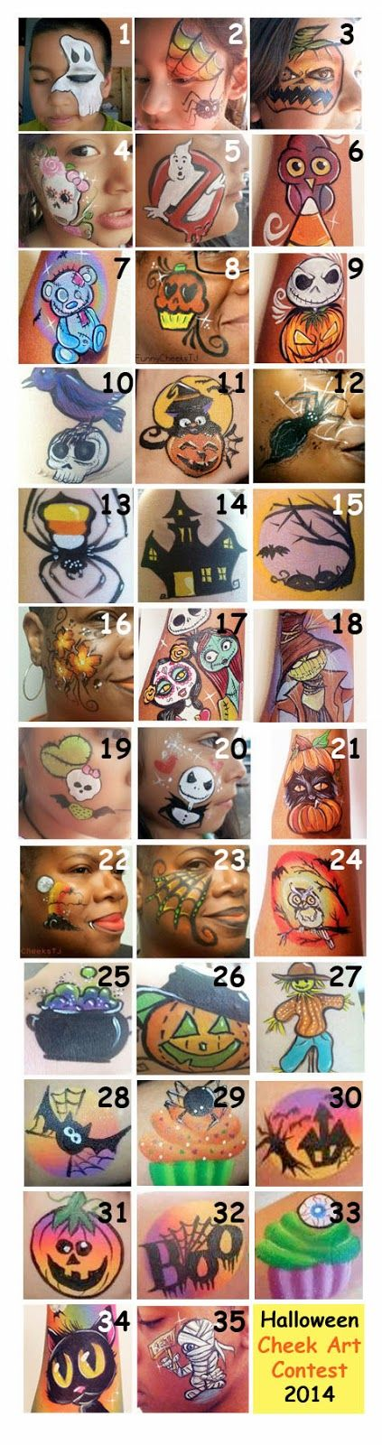 Paintertainment: Halloween Cheek Art Contest - VOTE for the Winner!