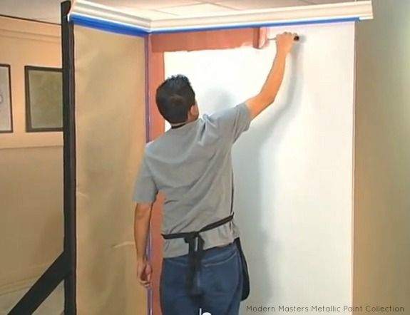 Painting Metallic on the Wall | Top Tips for Working with Metallic Paint