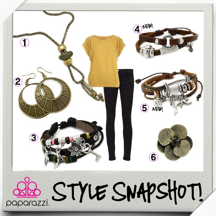 { Style Snapshot } Skinny black jeans and a golden-hued top set the perfect backdrop for some Uniquely Urban fun!