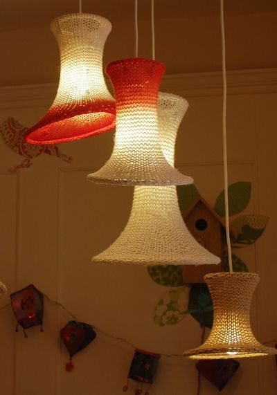 Knitted Lampshades by hannahnunn, via Flickr