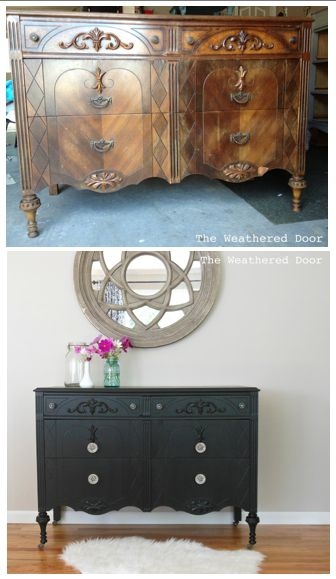17 best images about black painted furniture on pinterest - Renovar dormitorio ...