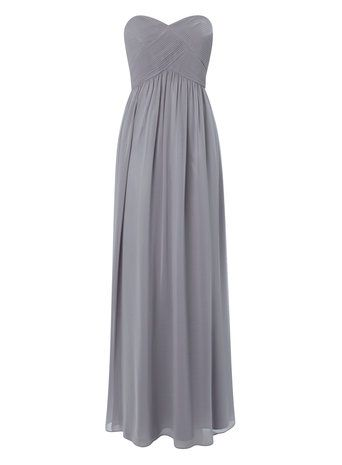 Pewter Darcy Long Bridesmaid Dress  Beautiful dress ladies shame its all fabric.... might be too hot ??