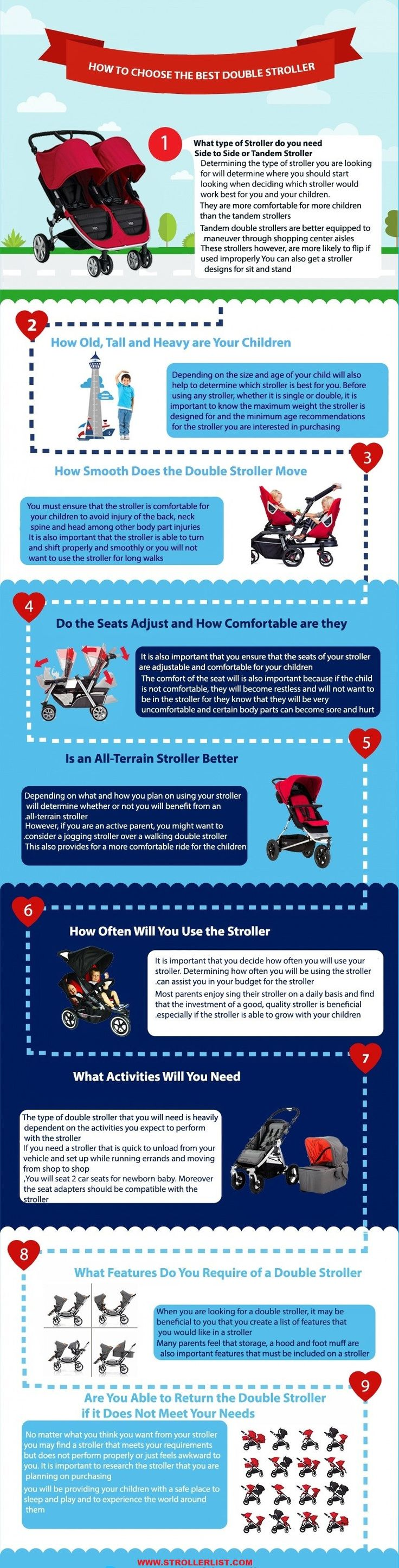 This is important to choose the best double stroller for twins. A quick buying guide can help you to select the right stroller for your babies. If you do not choose the right stroller, your babies may not feel comfortable and the baby stroller may not durable. Don't worry because we are here to provide …