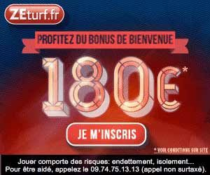 ZEturf : le bonus passe à 180 euros | Actualités | BetComparative.com