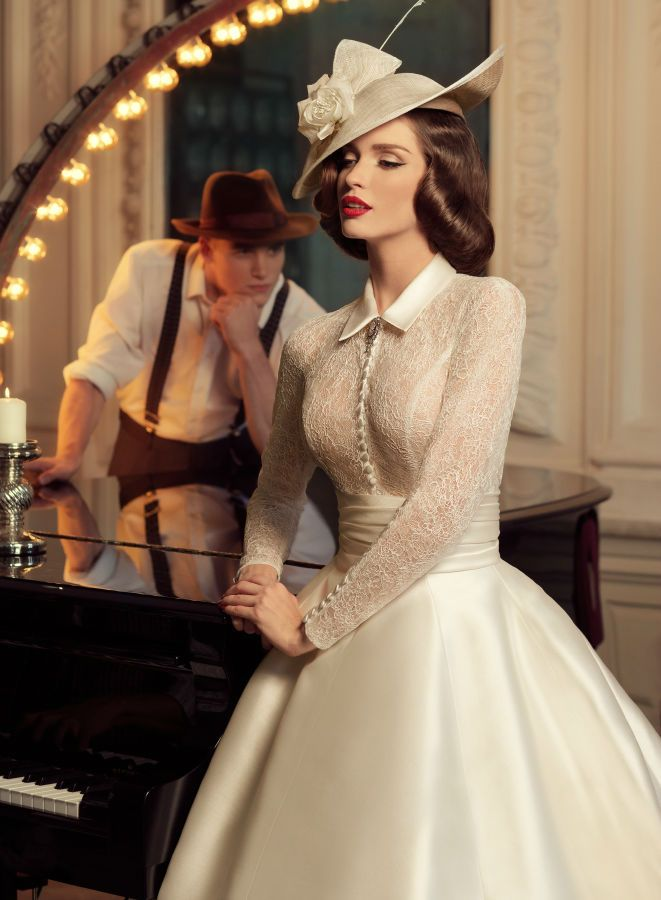Wedding shoot with 1960's bridal gowns - Jazz Sounds Photo Series by Andrey Yakovlev and Lili Aleeva