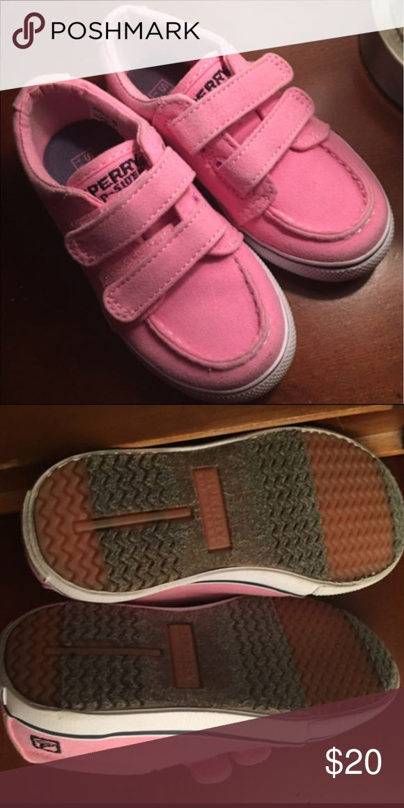Sperry Top siders pink canvas Size 7 toddler girls Sperry shoes. They were only worn a few times. Canvas shoes some dirt scuffs. Sperry Top-Sider Shoes Sneakers