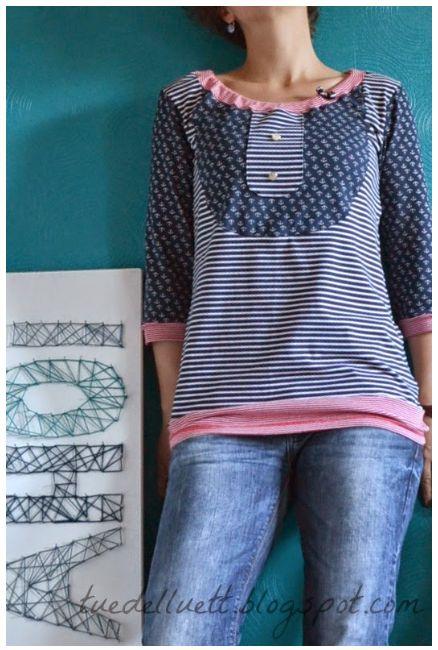 Gut bekannt T Shirt Selbst Gestalten Gunstig: T-blouse Damen Schnittmuster IV73