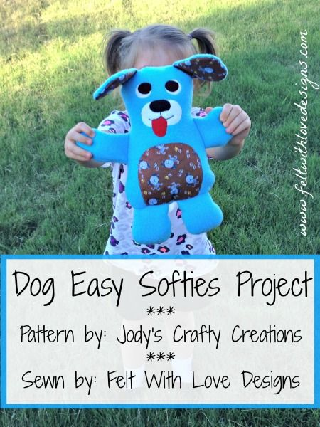 Dog From Kids Creations: Easy #Softies Projects {Pattern Test} #Sewing {Felt With Love Designs}