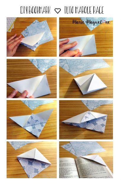 17 meilleures id es propos de marque page origami sur pinterest marque pages en coin marque. Black Bedroom Furniture Sets. Home Design Ideas