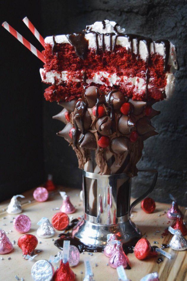 Black Tap's limited-edition Red Velvet Milkshake will be available for Valentine's Day.