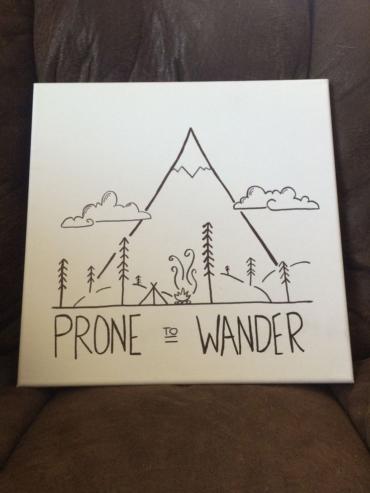 Prone to Wander Canvas by simplechicboutiqueTX on Etsy