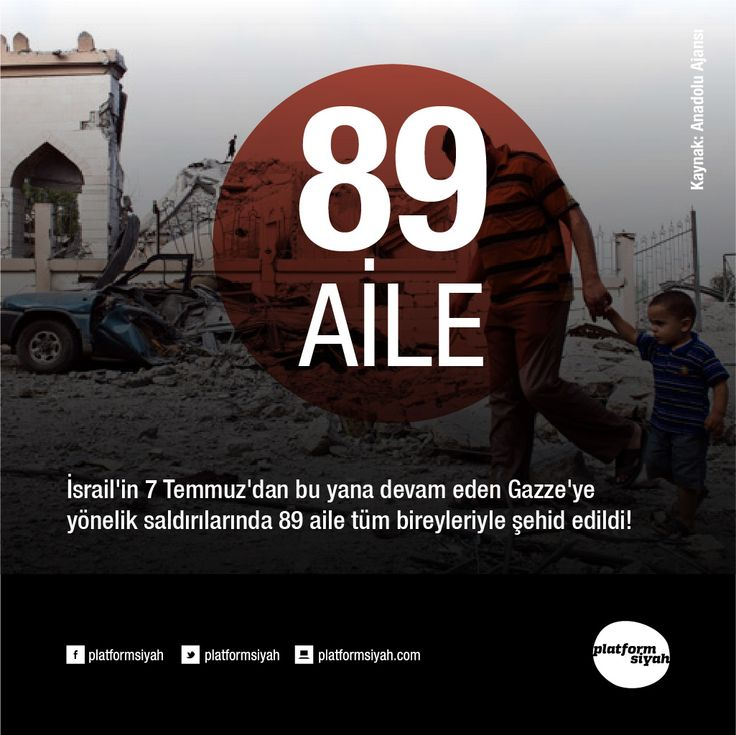 İsrail'in 7 Temmuz'dan bu yana devam eden Gazze'ye yönelik saldırılarında 89 aile tüm bireyleriyle şehid edildi!