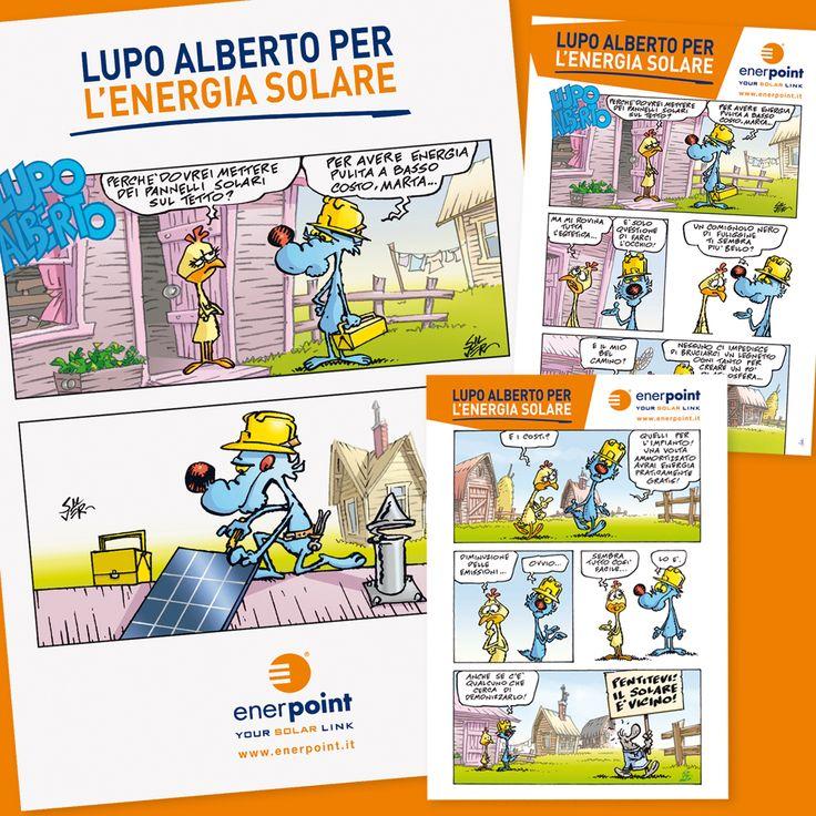 ENERPOINT Attività al Punto Vendita Libricino LUPO ALBERTO - Solarizzati con Enerpoint