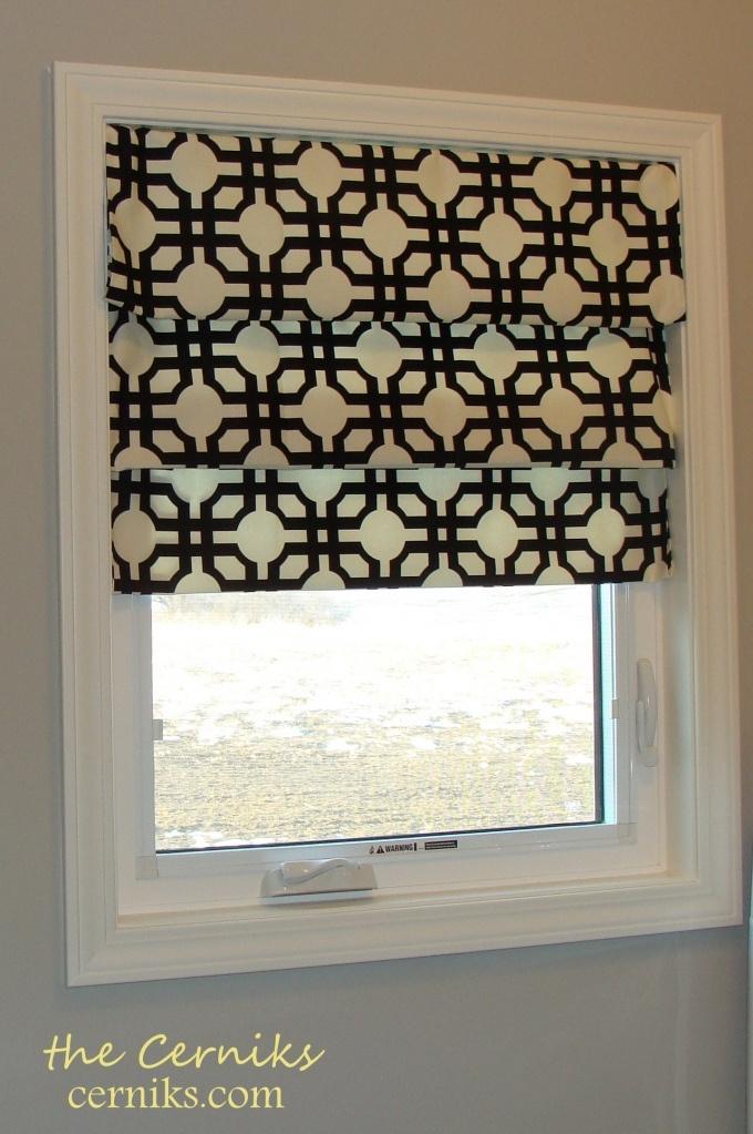 Faux Roman Shade: Romans, Idea, Sew Roman, Kitchen Window, No Sew, Window Treatments, Faux Roman Shades, Diy