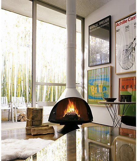 Top Pendant Fireplaces: Malm, Fireorb & Slimfocus — Maxwell's Daily Find 02.13.15 | Apartment Therapy