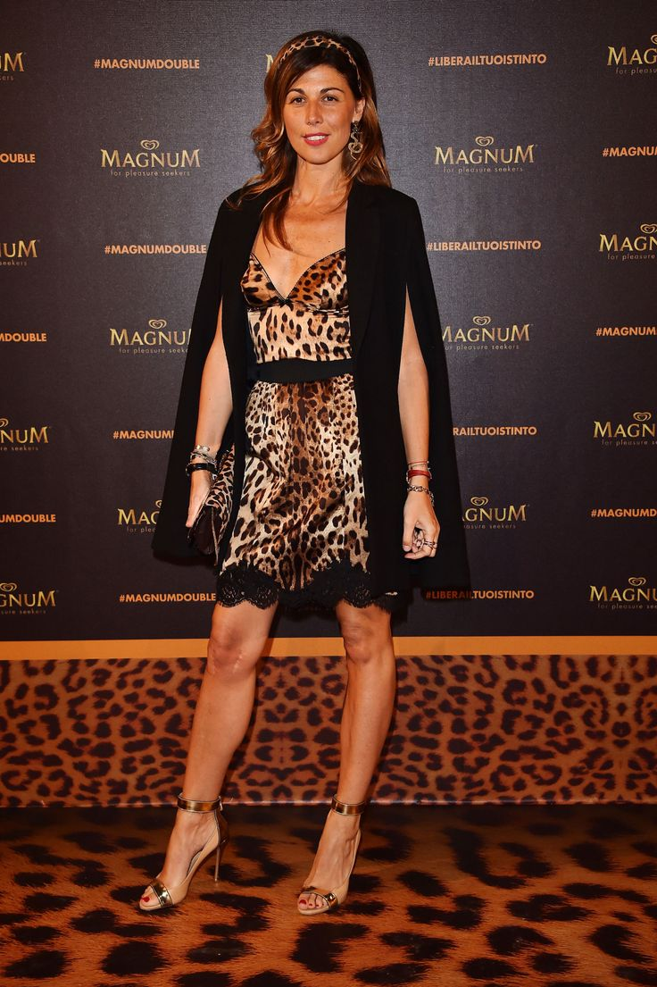 Look animalier sul red carpet del party magnum double gioia