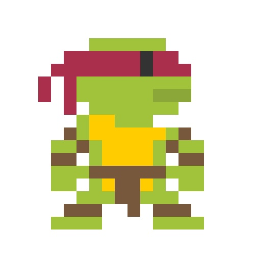 8 Bit Cartoon Characters : Pixelated cartoon characters raphael bit pinterest