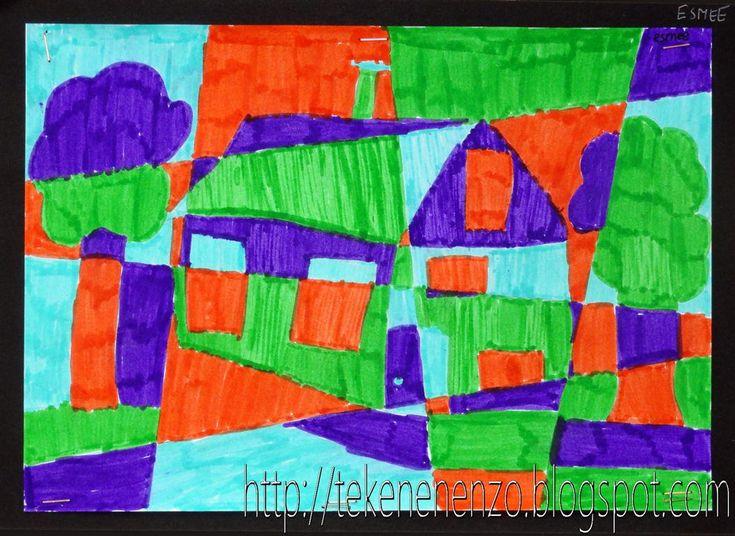 Tekenen en zo: Huis in kubistische stijl