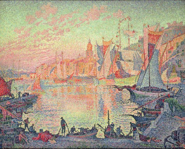 The Port of Saint Tropez by Paul Signac (1863-1935, France)