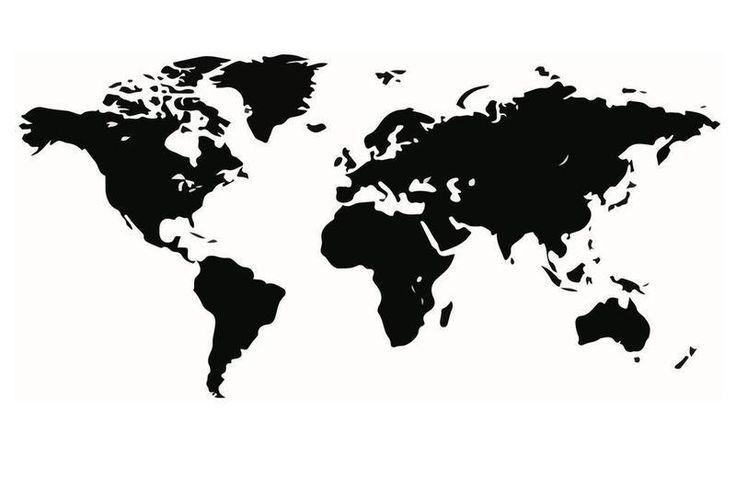 Väggdekor  Världskarta stor