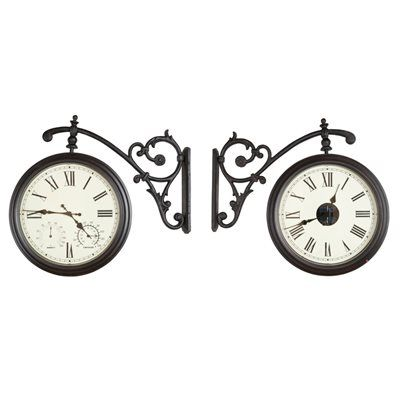 Fusion Analog Round Outdoor Wall Garden Clock