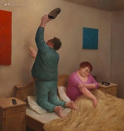 Marius Van Dokkum . He has such a humorous perspective and tells a short story in a single scene.