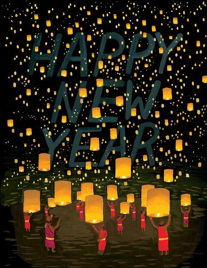 Christmascard Countdown seen on HappyMakersBlog.com ~ Illustration : smalladventure #newyear #nieuwjaarskaart