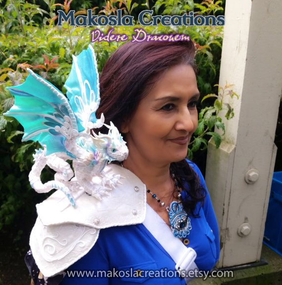 Custom Shoulder Dragon Made to Order Polymer von MakoslaCreations